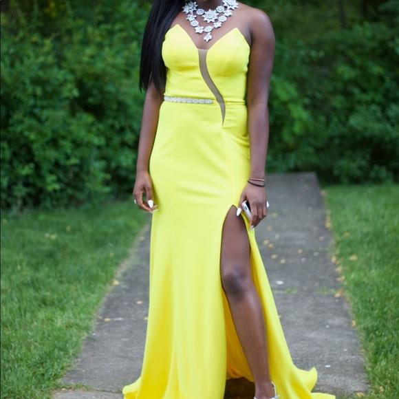 Dark Yellow Prom Dress